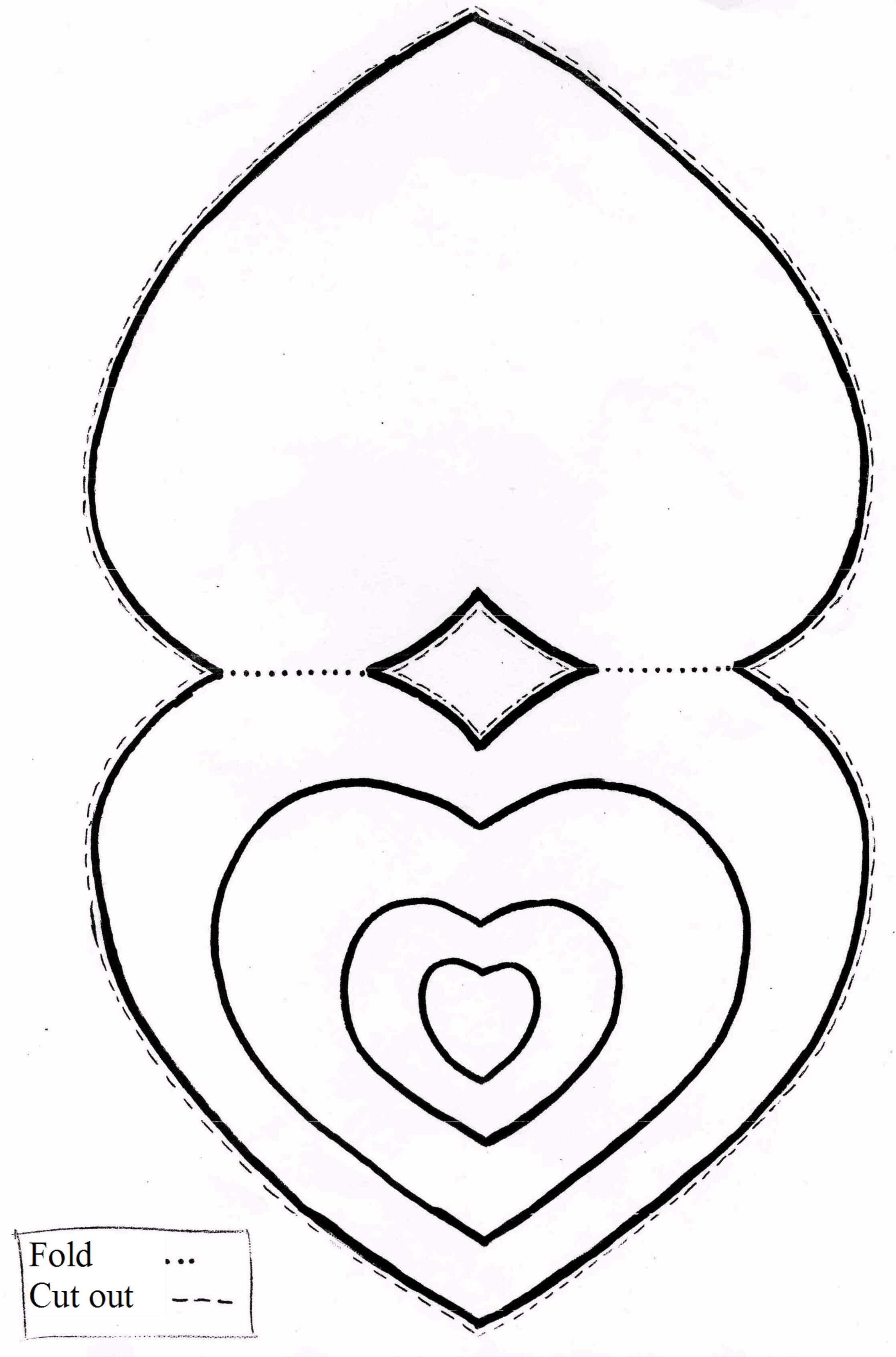 Encantador Página Para Colorear Forma De Corazón Viñeta - Dibujos ...