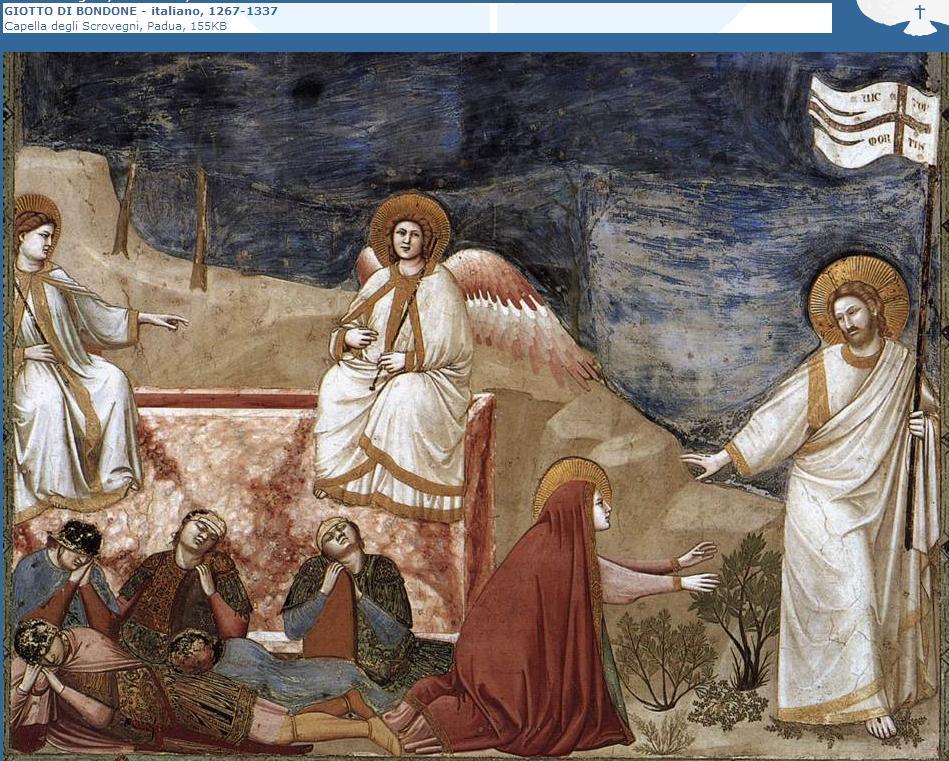 Resultado de imagen de cristo resucitado giotto