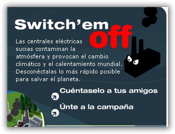 Juego de WWF. Desconecta las centrales eléctricas lo más rápido posible para salvar el planeta.