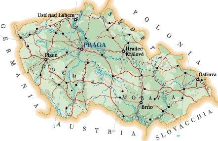 Repblica Checa  Mapa